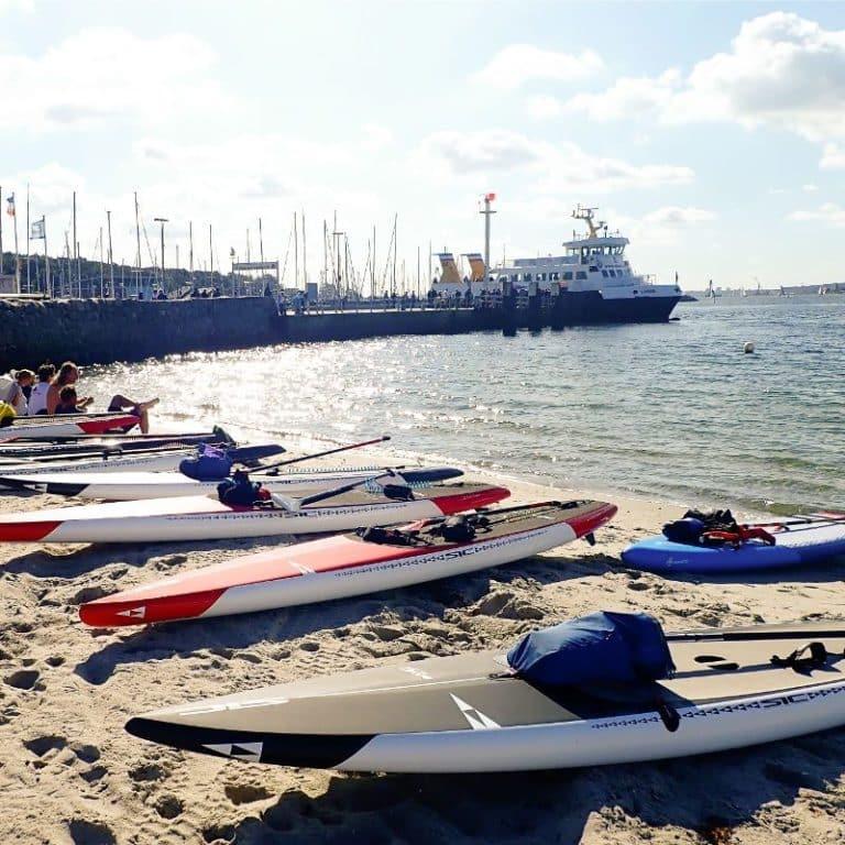 SUP Schule Kiel Standup paddeln Standup Paddling