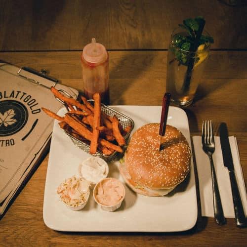 blattgold kiel vor 1 Karte Restaurants