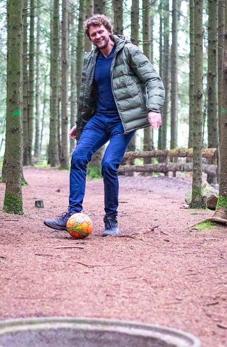 Fussballgolf Schuss kl Fußballgolf